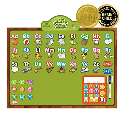BEST LEARNING i-Poster My Learning Board - Interactive Talking Educational Poster Wall Toy to Learn ABC, Numbers, Math, Spelling, Write Letters Stroke, Various Levels Quiz (Subtraction Math Wall)