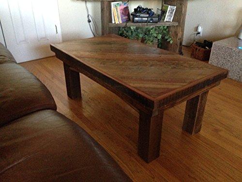 Reclaimed Wood Farmhouse Coffee Table - 34