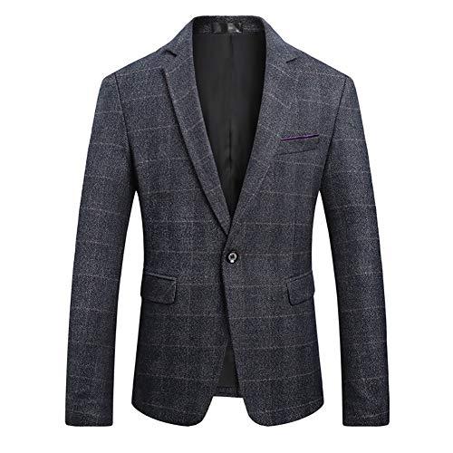 TATT 21 Men Classic Blazer Casual Tailored Fit Notch Lapel Two Button Sport Coat
