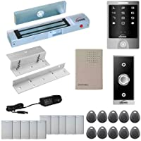 FPC-5280 One Door Access Control Inswinging Door 300lbs Maglock with VIS-3000 Outdoor Weather Proof Keypad / Reader Standalone No Software 2000 Users Kit (With L&Z Bracket)