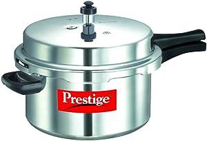 Prestige Popular Pressure Cooker, 7.5 Liter, Silver