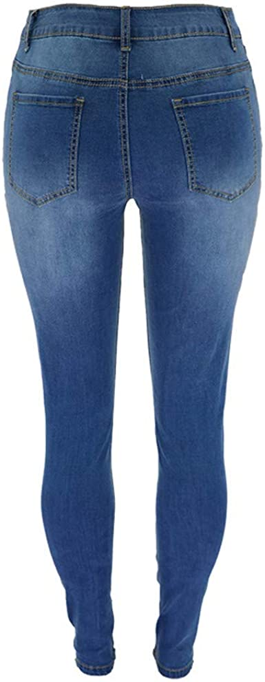 Mid Rise Stretch Butt Lift Cozy Denim Pants Morecome Womens Distressed Ripped Skinny Jeans