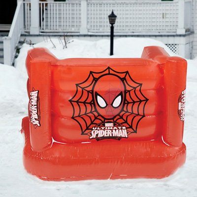 Epic Extreme MARISFTSP100 Marvel Spiderman Inflatable LED Light Snow Fort Ride on with Pump