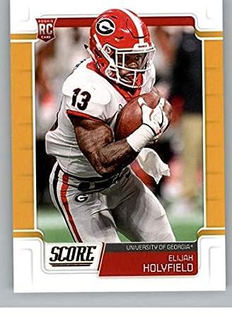 new product ce466 aeced Amazon.com: 2019 Score Gold Football #357 Elijah Holyfield ...