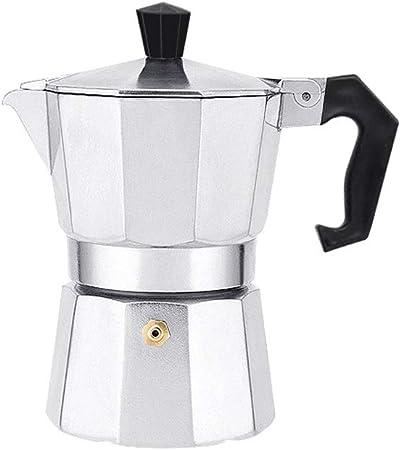 Qilo Cafetera Espresso Italiana 3/6/9 Tazas Diseño Tradicional Cafetera Espresso de Aluminio Olla de café Mocha Estufa Espresso, Plata (150 ml) Size : 6cups(300ml): Amazon.es: Hogar