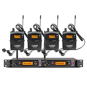 Top Quality!! Rocket Audio RW2080 In Ear Monitor System 2 Channel 4 Bodypack Monitoring with in earphone wireless SR2050 Type!