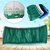 Asdomo Bird Cage Mesh, Bird Cage Skirt Mesh Bird Seed Catcher Net Cage Cover(S/M/L)