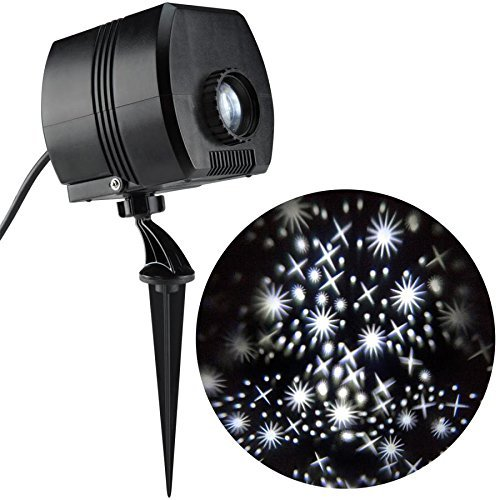 Disney Lightshow Twinkling White LED Fairy Dust Christmas Outdoor Stake Light Projector