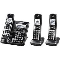 Panasonic KX-TGF543B Expandable Cordless Phone with Call Block and Answering Machine - 3 Handsets