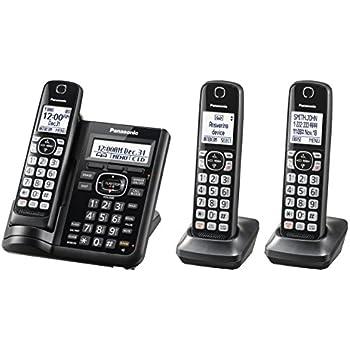 amazon com panasonic kxtgf343b dect 3 handset landline telephone rh amazon com Panasonic Kx User Manual Panasonic Kx Instruction Manual
