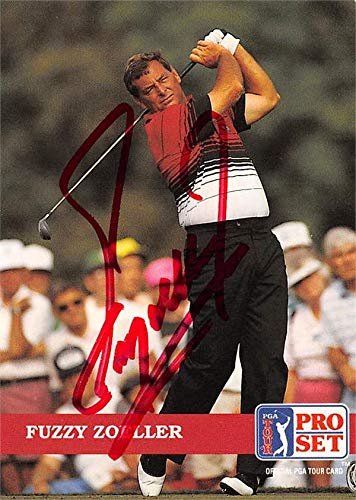 Fuzzy Zoeller autographed trading card (Golf, PGA Tour, Houston Cougars, SC) 1992 Pro Set #81 Autographed Golf Equipment