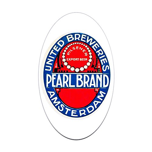 CafePress Holland Beer Label 12 Oval Bumper Sticker, Euro Oval Car Decal