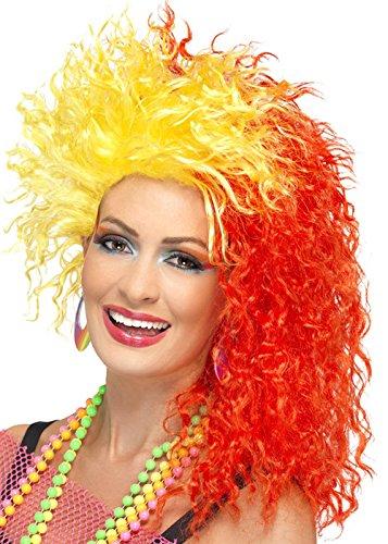 Amarillas y rojas los años ochenta Cyndi Lauper Style peluca