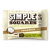 Simple Squares Paleo Snacks | Organic, Non GMO, No Dairy, Gluten Free Paleo and Keto Snacks Low Carb Food | Naturally Made For Low Sugar, Low Carb Snacks diets. (Coconut Nuts & Honey, 12 - Pack)