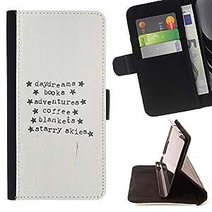 Momo Phone Case / Flip Funda de Cuero Case Cover - Libros de texto de papel de café Escritor Lectura - LG G4c Curve H522Y (G4 MINI), NOT FOR LG G4