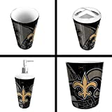 The Northwest Company New Orleans Saints NFL 4 Piece Bathroom Decorative Set (Scatter Series)