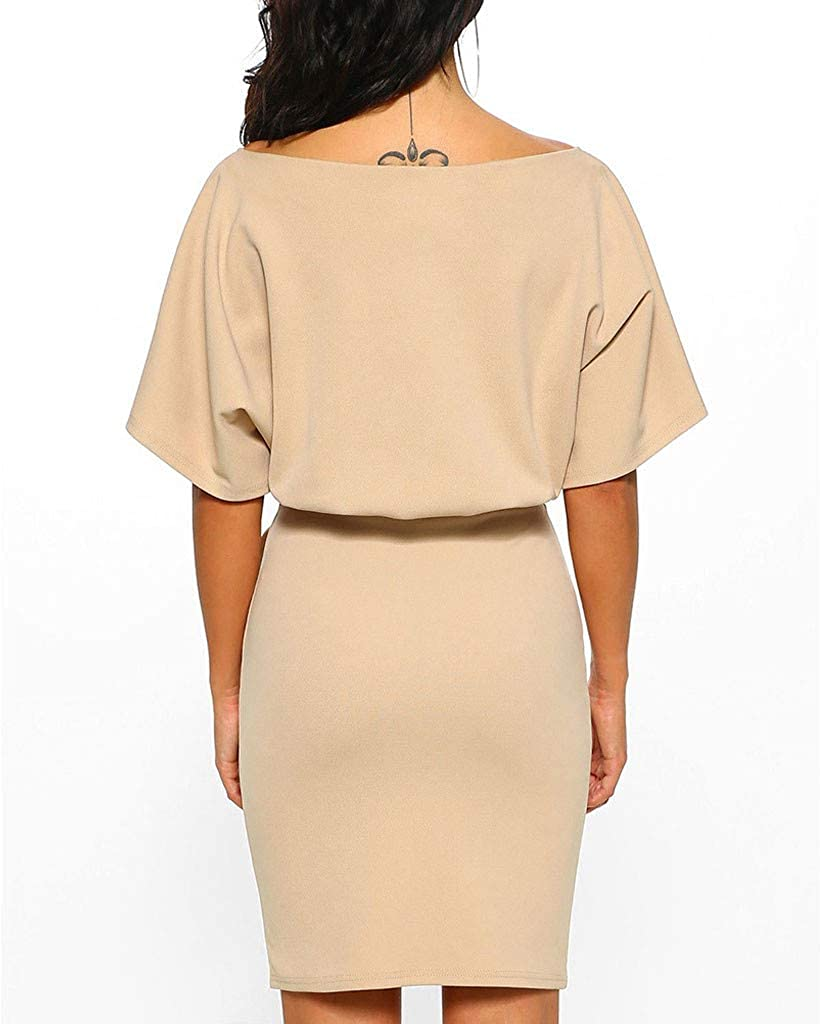 FBGood Plus Size Womens Summer Camouflage Print Short Sleeve Casual Loose Beach Mini Straight Dress