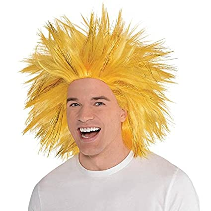 Amscan 395943.19 Crazy Wig Costume Accessories, Gold, One Size, 1 Piece