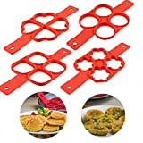 Product review for Aitsite 4 Pack Silicone Pancake Mold Pancake Maker Pancake Flipping Fantastic Pancake Flipper As Seen On TV