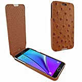 Piel Frama 721 Tan Ostrich iMagnum Leather Case for Samsung Galaxy Note 5
