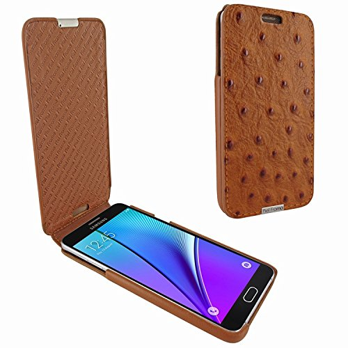 Piel Frama 721 Tan Ostrich iMagnum Leather Case for Samsung Galaxy Note 5 by Piel Frama (Image #4)