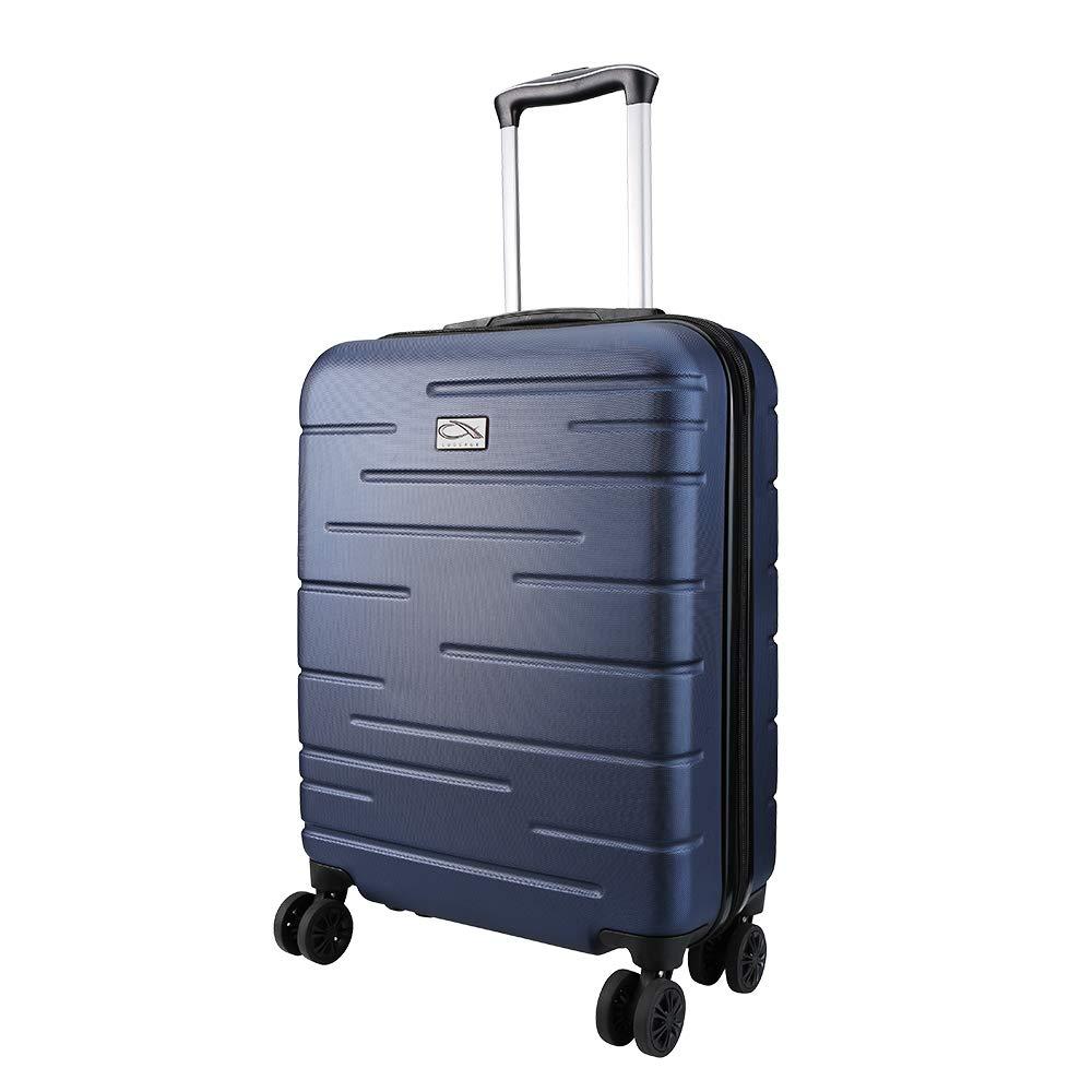 CX Luggage Maleta de Cabina Superligera con Exterior Rígido de ABS Equipaje de Mano con 4 Ruedas Bullet Points: (Mitternachtsblau): Amazon.es: Equipaje