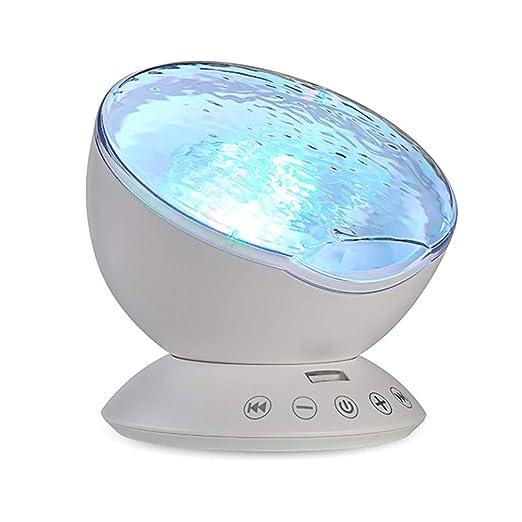 YOMRIC Mermaid Decor Control remoto Luz nocturna Proyector de ola ...