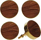 Home Essentials & Beyond Set of 4 Teramo Metal and Wood Knobs