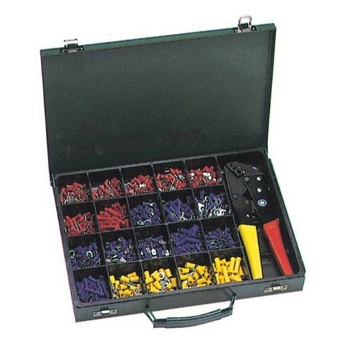 Morris 10818 Terminal Kit with Controlled Cycle Crimp Tool, 500-Piece