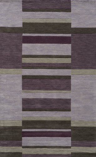 Metro Wool Area Rug (Momeni Rugs METROMT-20LIL5080 Metro Collection, 100% Wool Hand Loomed Contemporary Area Rug, 5' x 8', Lilac)