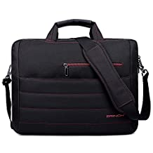 BRINCH® New Style 17.3 Inch Nylon Shockproof Carry Laptop Case Messenger Bag For 17 - 17.3 Inch Laptop / Notebook / MacBook / Ultrabook / Chromebook with Shoulder Strap Handles and Various Pockets For Accessories (Black - Red)