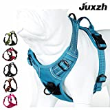 Best Dog Harness No Pulls - JUXZH Soft Front Dog Harness .Best Reflective No Review