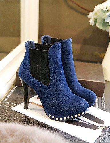 Vestido us10 A Black 5 Eu42 Stiletto us6 Xzz Botines Punta Mujer Negro Azul Botas La Redonda Tacón 5 7 Cn43 Blue Vellón Zapatos Eu37 Dark Moda Cn37 Uk8 Marino 5 5 Casual 5 Uk4 De xqRwzR71