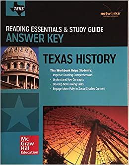 Teks Texas History Reading Essentials Study Guide Answer Key