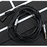 OFC Upgrade Audio Cable Cord with Volume Control and Mic Function for Sennheiser IE8, IE80, IE8i Earphone