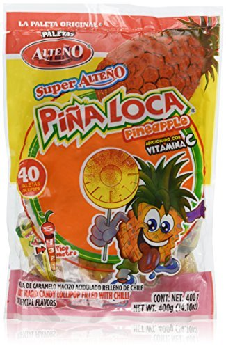 Alteno Super Pina Loca (Pineapple with Chili Lollipop) (40 Pieces)