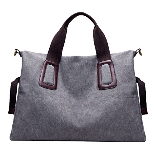 Bolsa De Lona De Mujer Bolso De Hombro Bolsa De Mensajero Bolso De Tela Grande Multicolor Grey