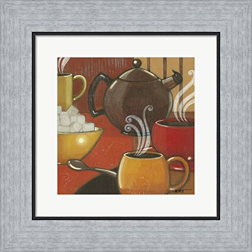Another Cup I by Norman Wyatt Jr. Framed Art Print Wall Picture, Flat Silver Frame, 14 x 14 inches