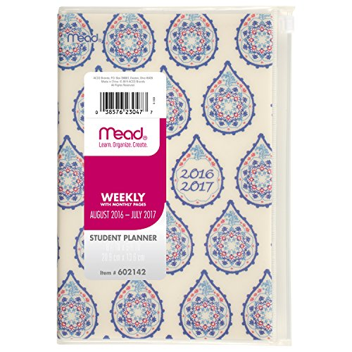 Acco Mead Weekly / Monthly Student Planner / Appointment ...