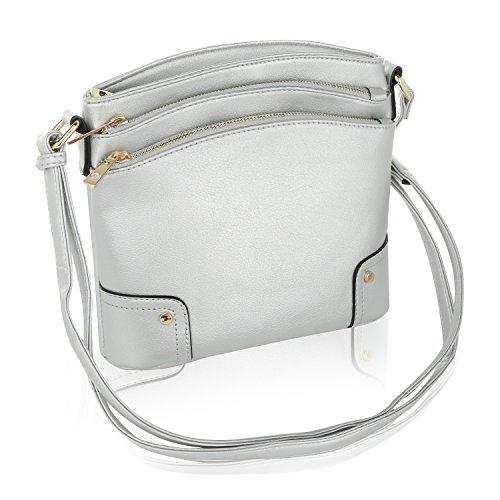 Kessi Crossbody Collection Silver MKF Mia Farrow Bag by K CWg5ZdB