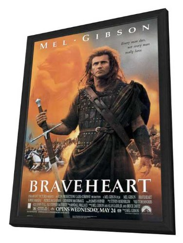 Braveheart - 27 x 40 Framed Movie Poster by Movie Posters