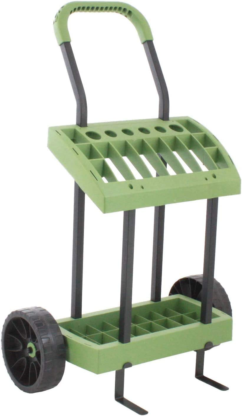 Rolling Storage Rack On Wheels for Yard, Garden and Lawn Care Tools | Store and Organize Sporting Gear & Sport Equipment | Rolling Garage Storage Tool Cart | Made in USA by Vertex | Model SD560