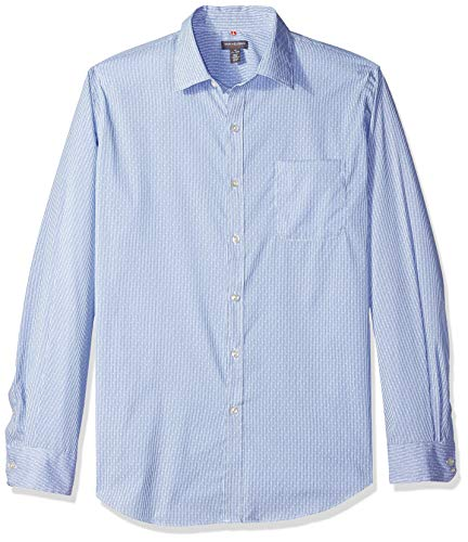 - Van Heusen Men's Traveler Stretch Non Iron Long Sleeve Shirt, Blue Grecian, XX-Large