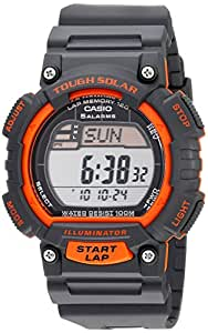 "Casio Men's STL-S100H-4AVCF ""Tough Solar"" Stainless Steel Fitness Watch with Black Resin Band"
