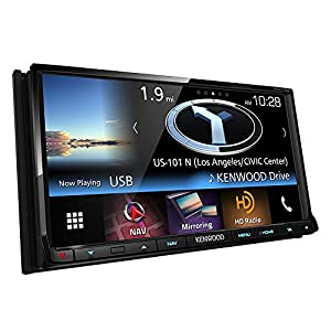 "Kenwood DNX773S In-Dash 2-DIN 6.95"" Touchscreen DVD Receiver with Navigation System, Built-in HD Radio, Apple Carplay, and Android Auto Compatible"