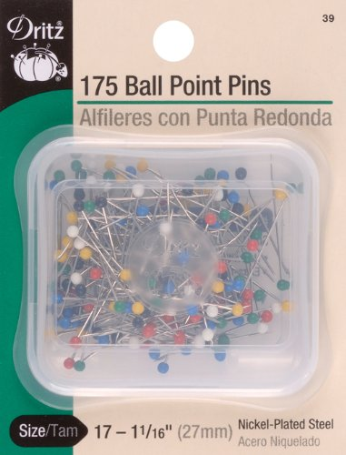 - Dritz Color Ball Point Pins-Size 17 175/Pkg