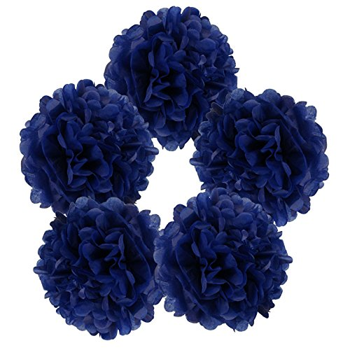 Just-Artifacts-5pcs-8-Royal-Blue-Tissue-Paper-Pom-Pom-Flower-Ball