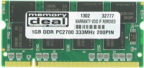 1GB Memory Ram DDR SO-DIMM PC-2700 333MHz 200-pin 1 GB for Apple Powerbook G4, Imac G4 Ibook -