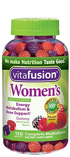 Vitafusion Women's Gummy Vitamins, Natural Berry Flavors, 150 Count 885604736841