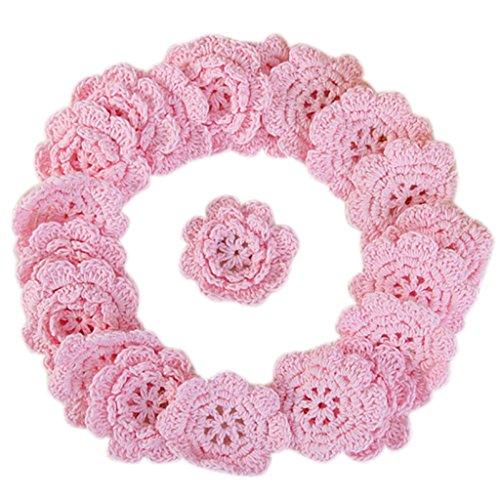 20 Handmade Crochet Applique 8 Petals (Petal Applique)